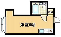 Osaka Metro谷町線 都島駅 徒歩7分の賃貸マンション 3階ワンルームの間取り