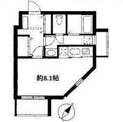 コート駒沢[1階]の間取り