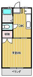 サニーハイツE&M[2階]の間取り