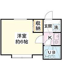 ローズアパートR24番館[1階]の間取り
