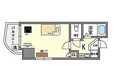 家具・家電付き イムプレス大名[10階]の間取り