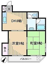 東京都文京区本駒込1丁目の賃貸マンションの間取り
