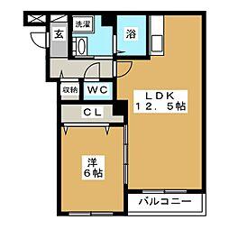 FUKUTOKU[4階]の間取り