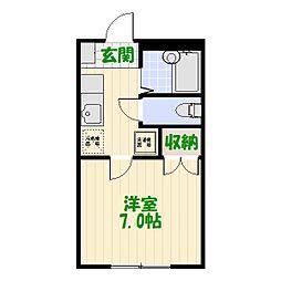 埼玉県八潮市垳の賃貸アパートの間取り
