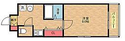 フォレストインサイドII[3階]の間取り