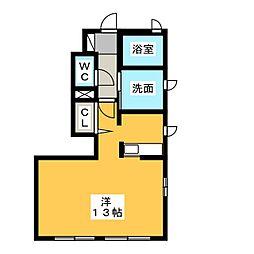 セレーノ日東 B[1階]の間取り