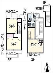 are−cn−ciel[3階]の間取り