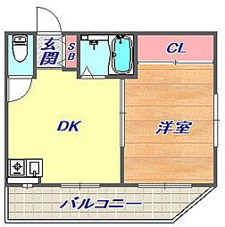 兵庫県神戸市東灘区住吉本町2丁目の賃貸アパートの間取り