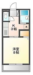 パークサイド II[2階]の間取り