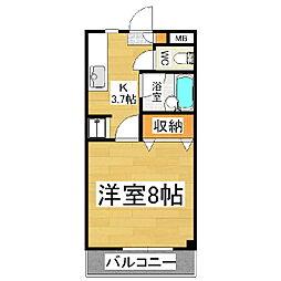 レスコムライ[2階]の間取り