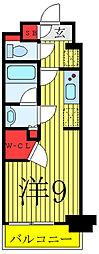 JR山手線 駒込駅 徒歩1分の賃貸マンション 5階ワンルームの間取り