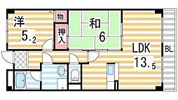 コンフォートステージ2[4階]の間取り