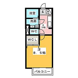 三重県鈴鹿市野町東1丁目の賃貸アパートの間取り