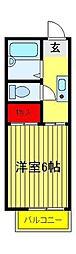 竹林ナカノA[205号室]の間取り