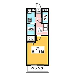 第2メゾン永田ビル[1階]の間取り