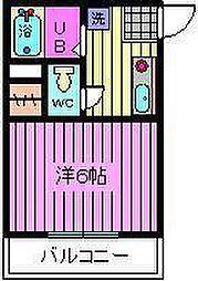 埼玉県さいたま市大宮区下町2丁目の賃貸マンションの間取り