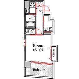 フロスト[4階]の間取り