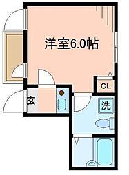 東京都江戸川区船堀5丁目の賃貸アパートの間取り
