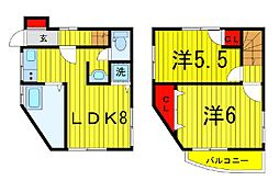[一戸建] 東京都葛飾区東立石3丁目 の賃貸【/】の間取り