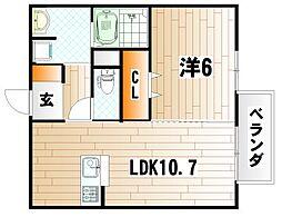 コープアールエムI[2階]の間取り