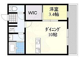 JR東海道・山陽本線 茨木駅 徒歩7分の賃貸アパート 1階1LDKの間取り