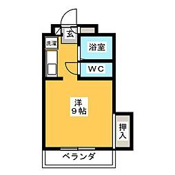 Chez moi三番丁[3階]の間取り