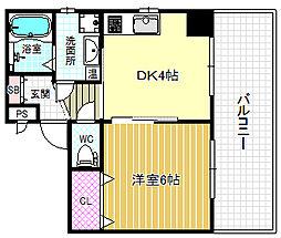 ノブパシオン北梅田[5階]の間取り