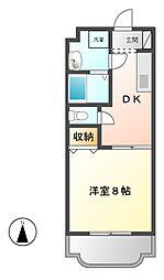 愛知県名古屋市守山区百合が丘の賃貸マンションの間取り