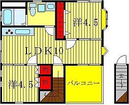 ハイツ山崎[3階]の間取り