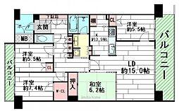 ジオ彩都プレミアムテラス[4階]の間取り