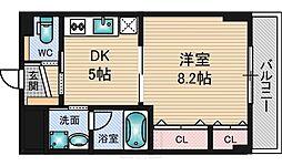 ブルーム江坂[4階]の間取り