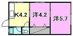 コーポラス潮見[205 号室号室]の間取り