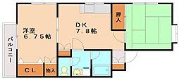 ローズィット那珂川[2階]の間取り