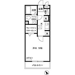 JR内房線 八幡宿駅 徒歩3分の賃貸アパート 2階1Kの間取り