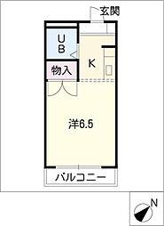 ニューコーポ龍美II[1階]の間取り