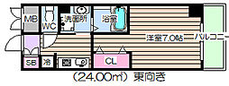 IF・西梅田[2階]の間取り