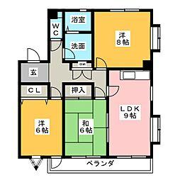 タウンハウス郷A棟[2階]の間取り