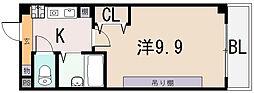 大阪府八尾市桜ヶ丘の賃貸マンションの間取り