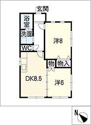 [一戸建] 愛知県西尾市熊味町小松島 の賃貸【/】の間取り