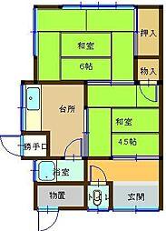 [一戸建] 鳥取県米子市上後藤5丁目 の賃貸【/】の間取り
