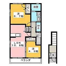 ノトス[2階]の間取り
