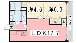 ブエナビスタ姫路[102号室]の間取り