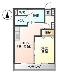 西荘ビル[4階]の間取り