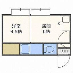 ホワイトパレスキタダIII[3階]の間取り