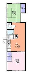 高松荘[1階]の間取り