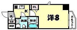 ビガーポリス224松ヶ枝町II[7階]の間取り