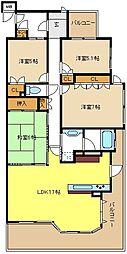 愛知県名古屋市北区芦辺町3丁目の賃貸マンションの間取り