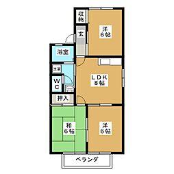 シェドゥーヴル酒井[1階]の間取り
