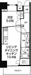 Zeus西梅田premium[10階]の間取り