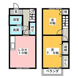 [テラスハウス] 愛知県知多市岡田美里町 の賃貸【/】の間取り